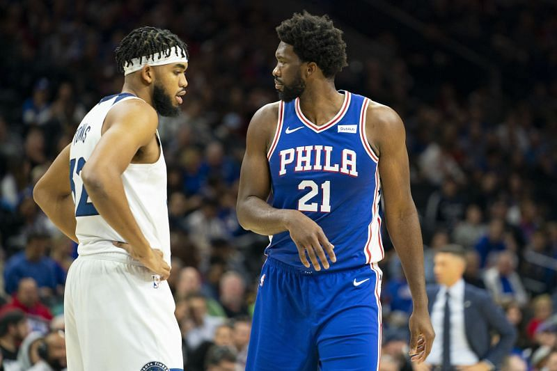 Joel Embiid and Karl-Anthony Towns