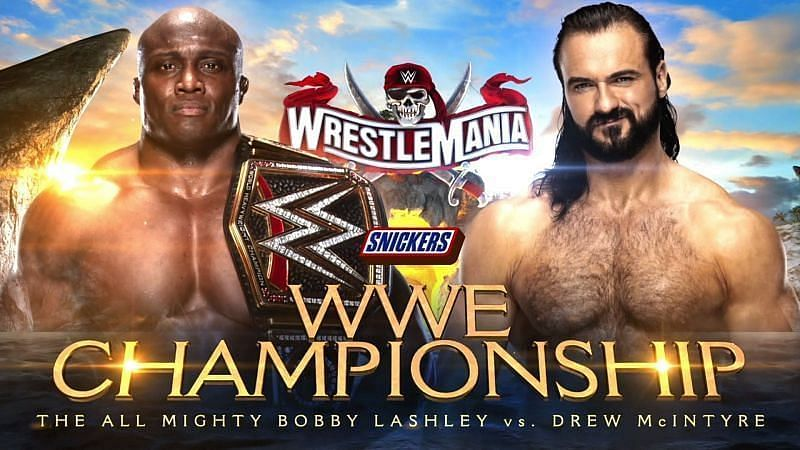 Drew McIntyre will face Bobby Lashley for the WWE Championship on Night 1 of WrestleMania (Credit: WWE)