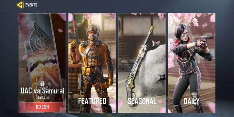 Events menu in COD Mobile (Image via Activision)