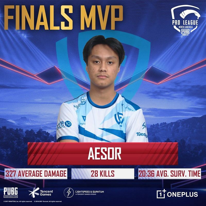 Aesor was the MVP for the Grand Finals