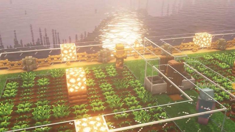 Minecraft Farmer Crop Farm (Image via YouTube/Mysticat