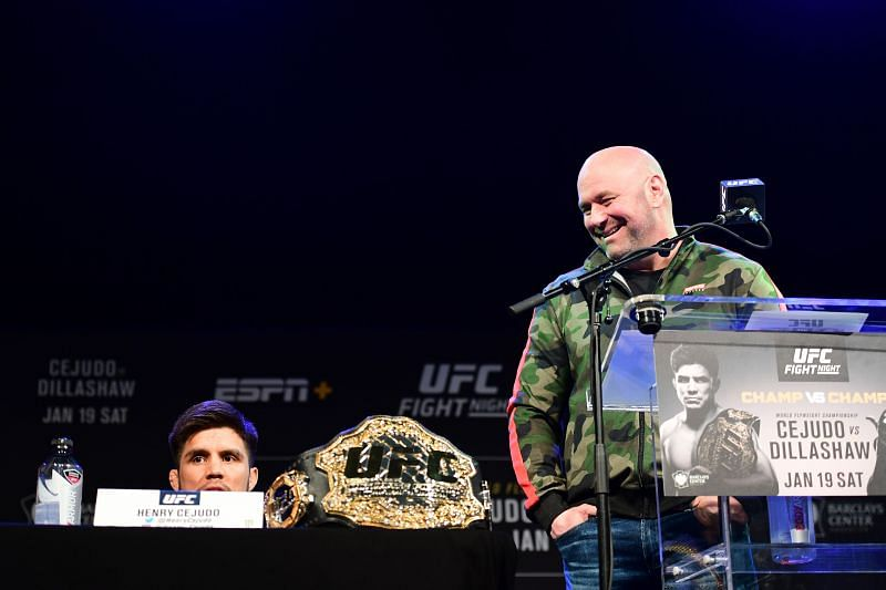 Henry Cejudo and Dana White