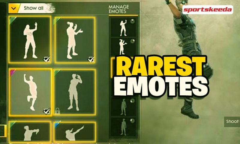 Discussing some of the rarest emotes in Free Fire.