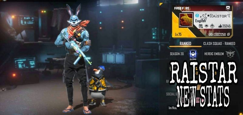 Raistar की Free Fire ID