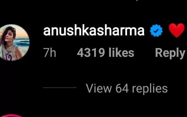 अनुष्का शर्मा का जवाब