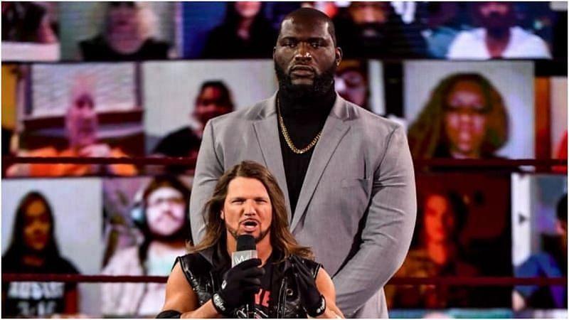 Raw Tag Team Champions AJ Styles and Omos