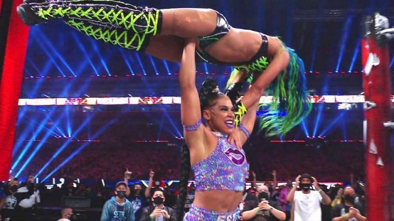 Bianca Belair and Sasha Banks headlined the first night of WrestleMania 37