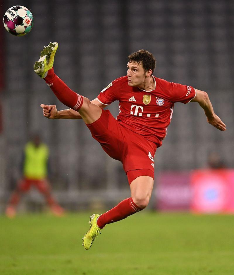 Benjamin Pavard in action for Bayern Munich