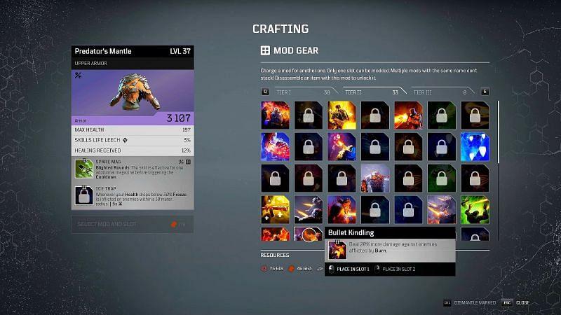 Outriders crafting guide: Armour Tier Mods (Image via ITZ JIMBO, YouTube)