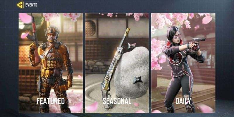 "Click on ""Seasonal"" to have a look at ongoing COD Mobile events(Image via Activision)"