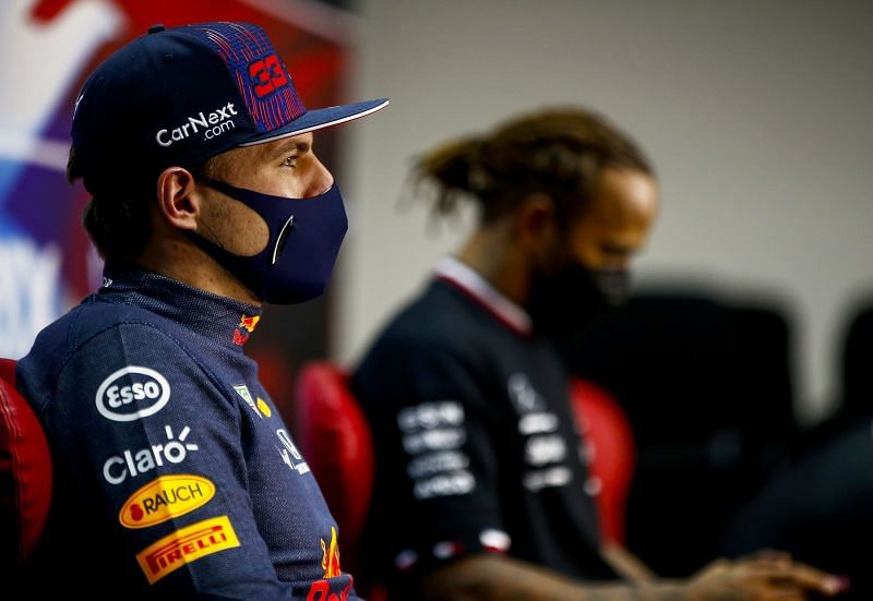 Verstappen lost out against Lewis Hamilton at the Bahrain Grand Prix. Photo: Andy Hone/Getty Images.