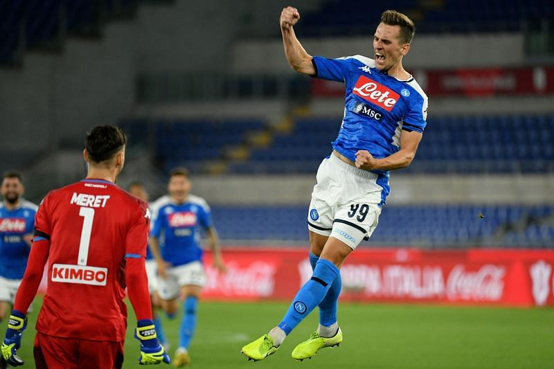 Milik used to play for Napoli in Serie A. (Photo by Marco Rosi/Getty Images)