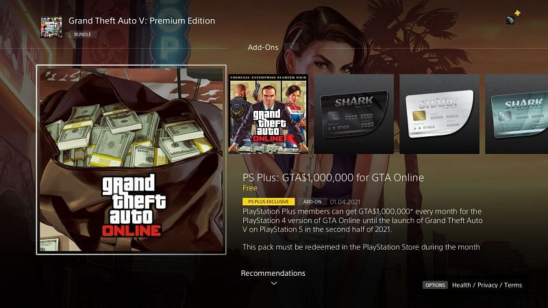 Starting from April 1st, GTA Online players must claim their bonus from the PlayStation Store