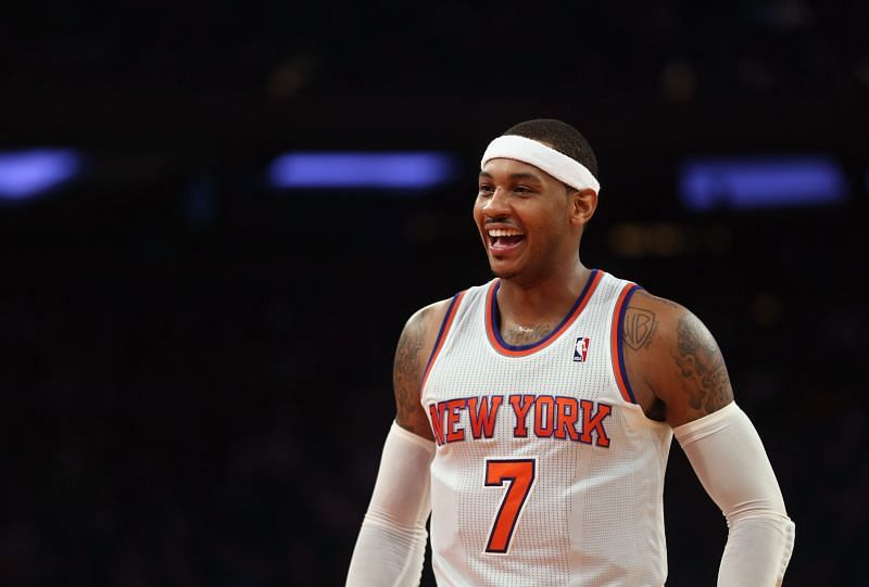 Carmelo Anthony with the New York Knicks in 2012