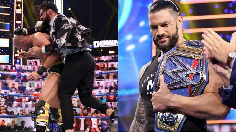 इस हफ्ते SmackDown में सिजेरो ने रोमन रेंस को चैलेंज किया