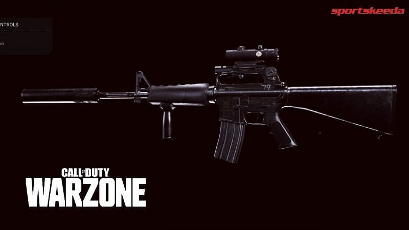 The M16 is a burst tactical rifle that has some great fire rate to rival the AUG in Call of Duty: Warzone (Image via Activision)