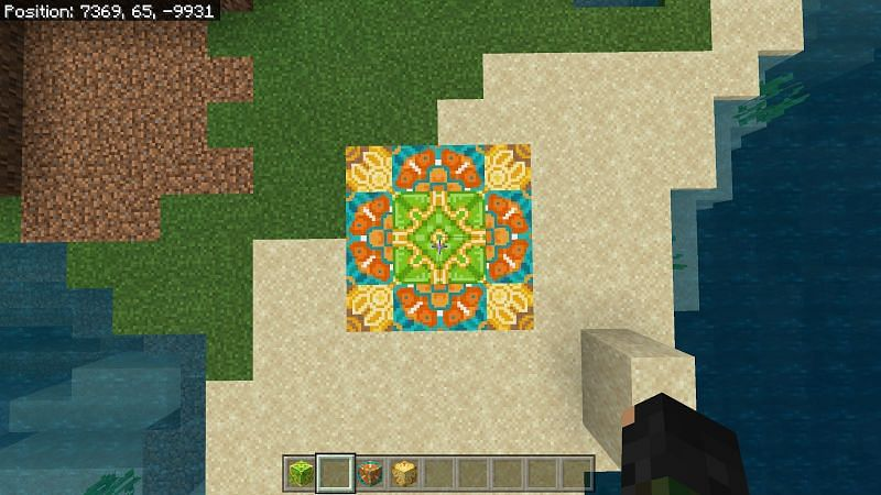 Play around with the designs to get a unique pattern. You can even combine some glazed terracotta pieces to make a nice floor piece.