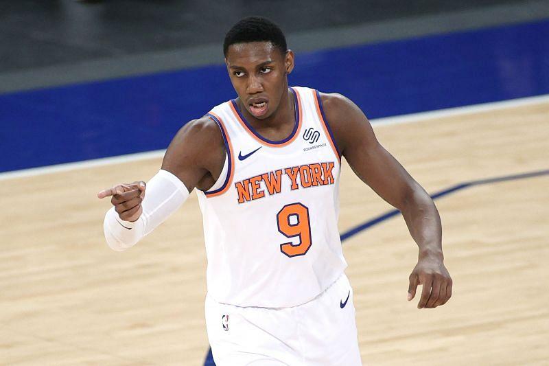 RJ Barrett #9 of the New York Knicks