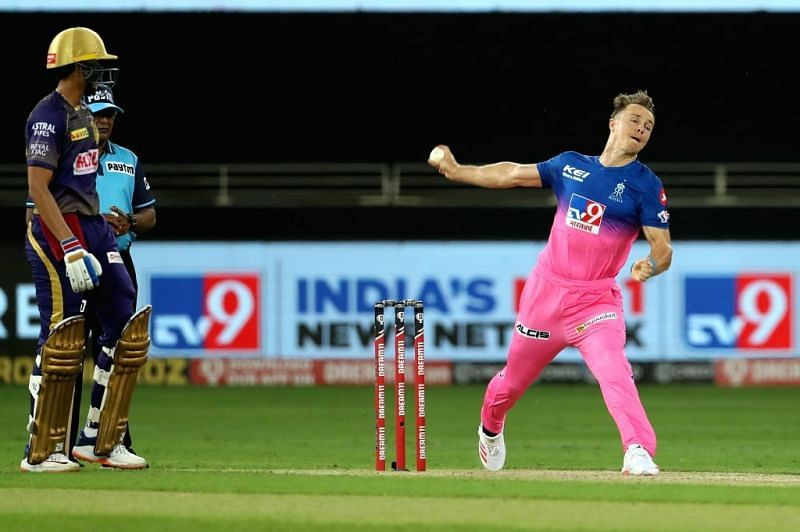 File Photo: Tom Curran of Rajasthan Royals during match 12 of season 13 of  the Dream 11 Indian ...