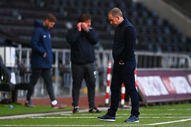 A dejected Steve Cooper following Swansea