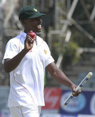 Tendai Chatara after delivering against Pakistan in a thriller. (Source: AP)
