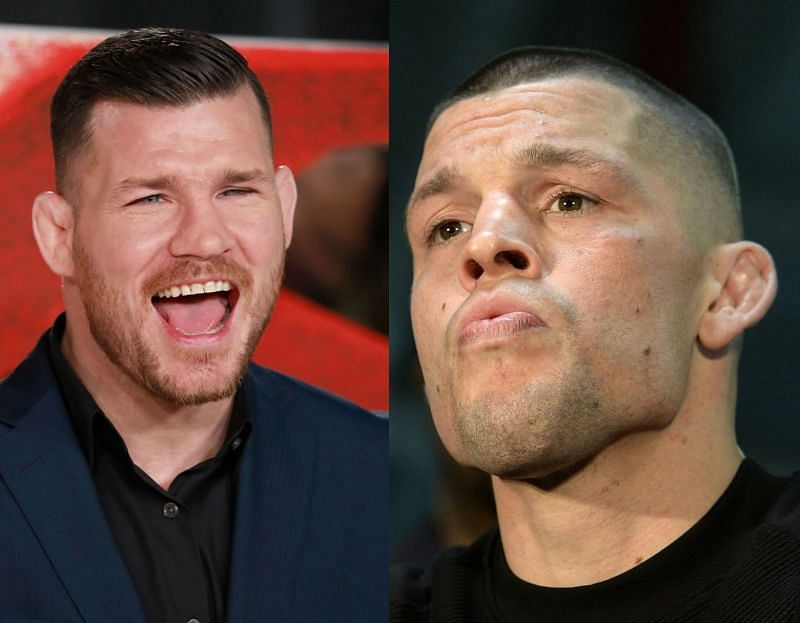 Michael Bisping (Left), Nate Diaz (Right)