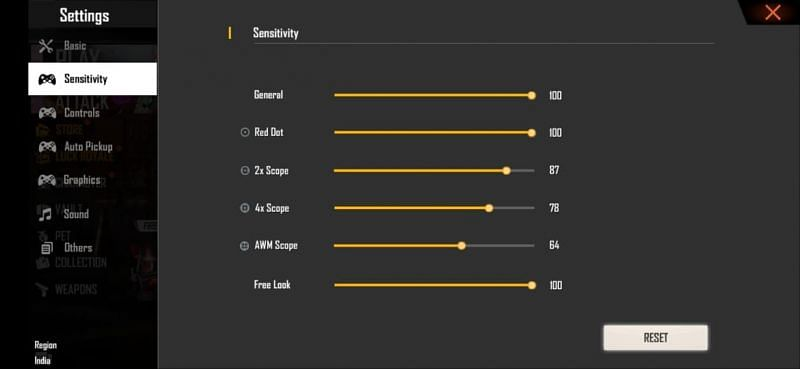 Best Free Fire sensitivity settings for easy headshots (Image via Free Fire)
