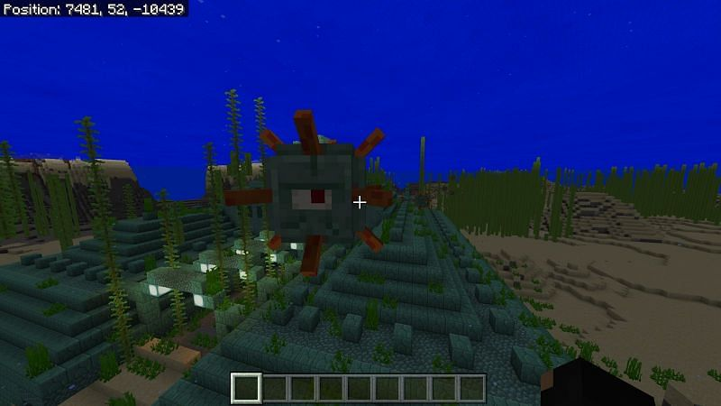 Spawning of Guardians in Minecraft