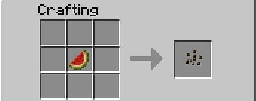 How to craft a melon seed (Image via Minecraft)