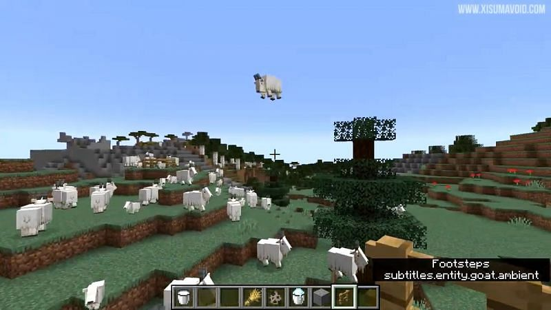 Goats are the third new mob added to Minecraft in the Caves and Cliffs update (Image via Xisumavoid)