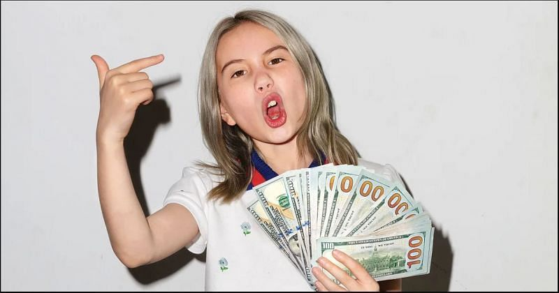 Lil Tay made waves in 2018 with her brand of foul-mouthed content (image via Philip Cheung)