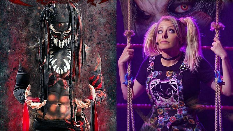 WWE सुपरस्टार एलेक्सा ब्लिस और फिन बैलर (Demon King)