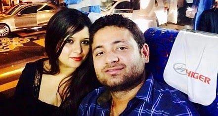 Piyush Chawla with wife Anubhuti Chauhan