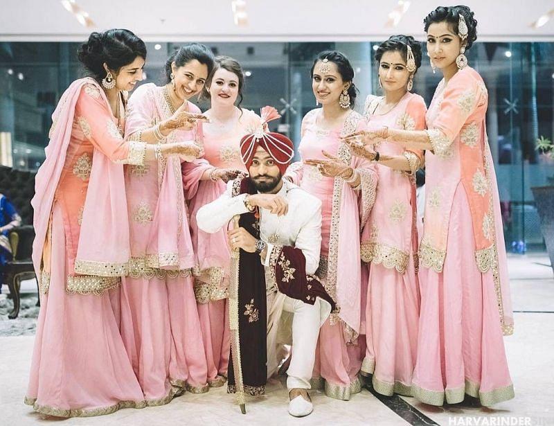 Mandeep Singh's family female members at his wedding