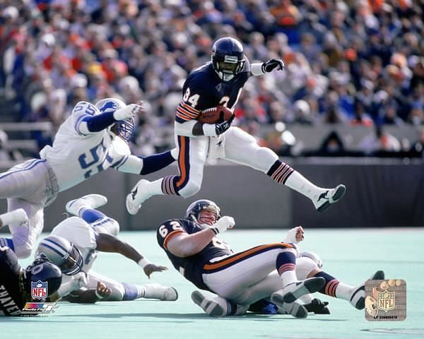 He played 13 seasons with the Chicago Bears