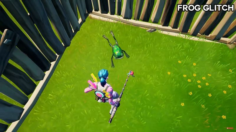 Frog animation glitched out (Image via Glitch King, YouTube)