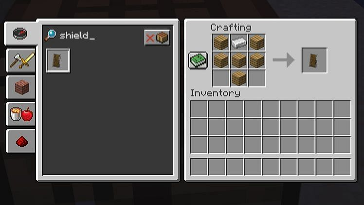 Minecraft players can place enchantments on shields using an anvil (Image via Minecraft)