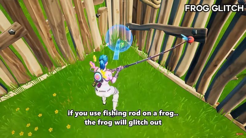 Fortnite Season 6 glitch that messes up frog animation in-game (Image via Glitch King, YouTube)