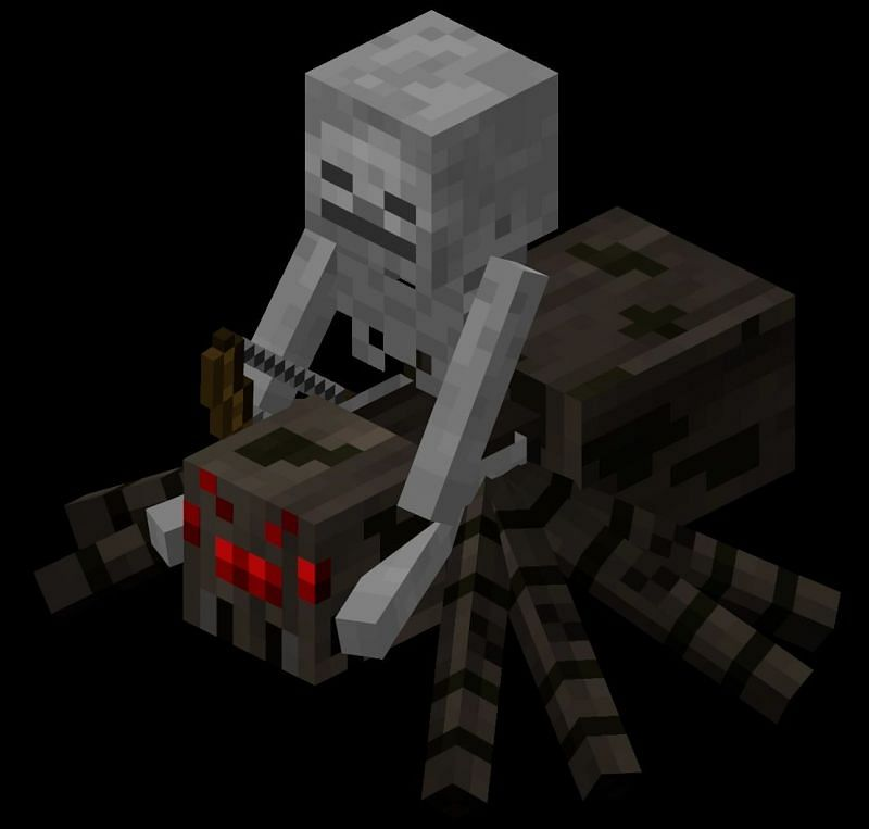 One of these rare breeds is the spider jockey, a combination of a spider being ridden by a skeleton which makes such a foe dangerous up close as well as from afar.