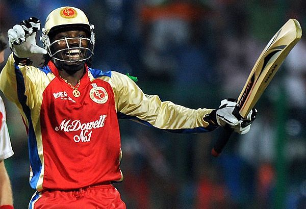 Unsold in auction, signed for RCB as an injury replacement, Chris Gayle embraced RCB in style. (Photo: Twitter)
