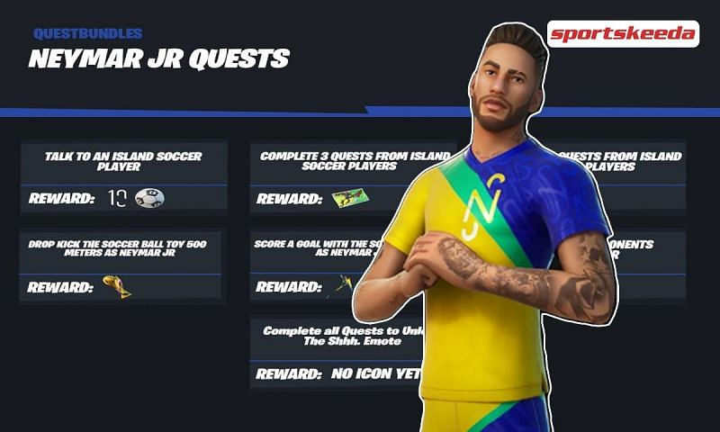 Everything to know about the Neymar Jr. quests in Fortnite Season 6 (Image via Sportskeeda)