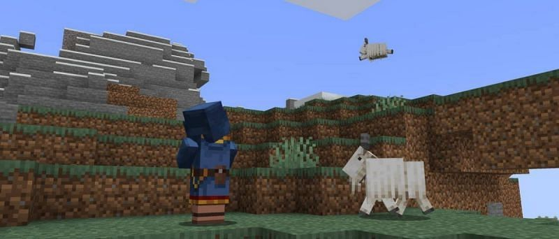 One of the biggest features that have been added to Minecraft with Snapshot 21w13a is goats (Image via Minecraft.net)
