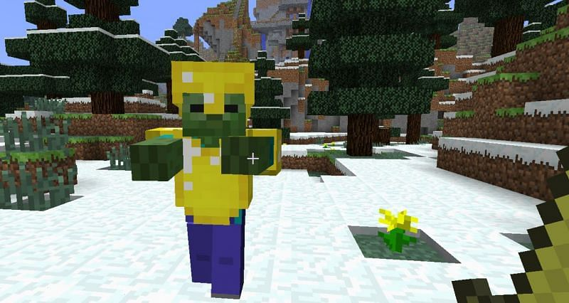 Zombie with armor (Image via minecraft.wikia)