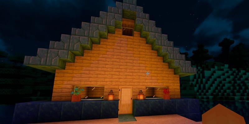 Blocks of Lapis Lazuli as Home Foundation (Image via Minecraft)