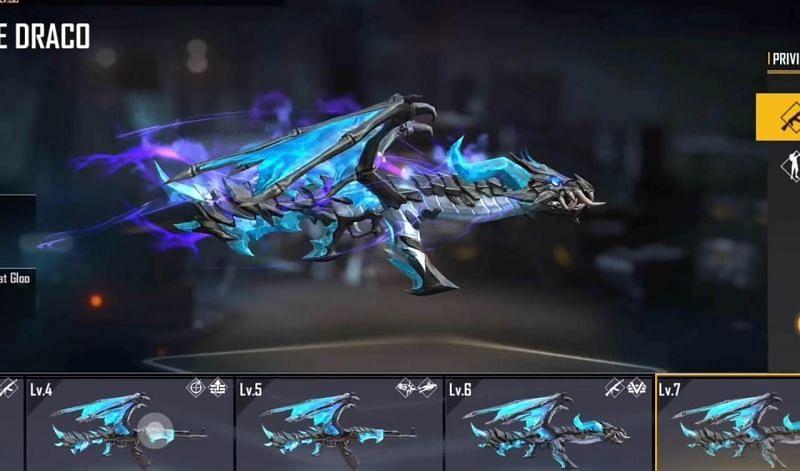 Blue Flame Draco skin in Free Fire