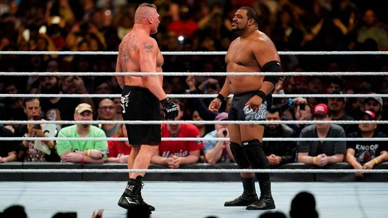 Brock Lesnar and Keith Lee had a momentary face-off in the 2020 Royal Rumble