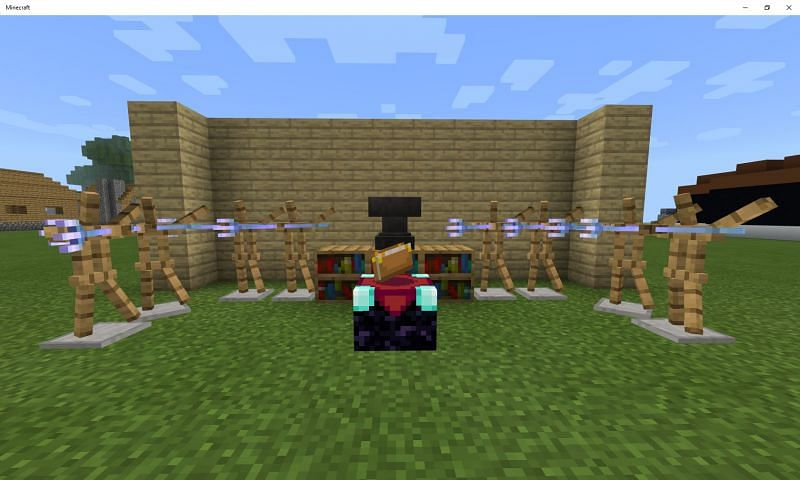 A trident can hold nearly all of its possible enchantments at one time (Image via Mojang)