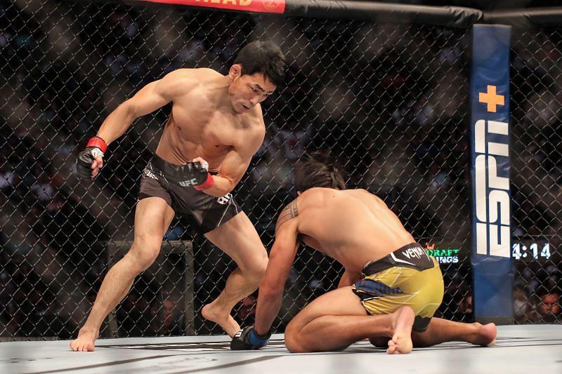 Danaa Batgerel showed off his striking skills in his stoppage of Kevin Natividad