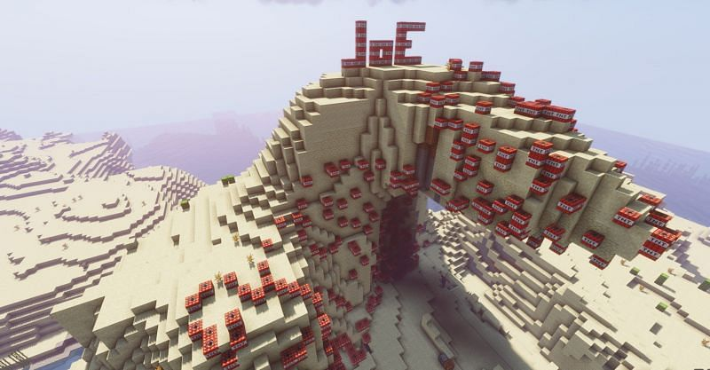 TNT can be used for much more than simply blowing up an entire mountain in Minecraft (Image via Minecraft)