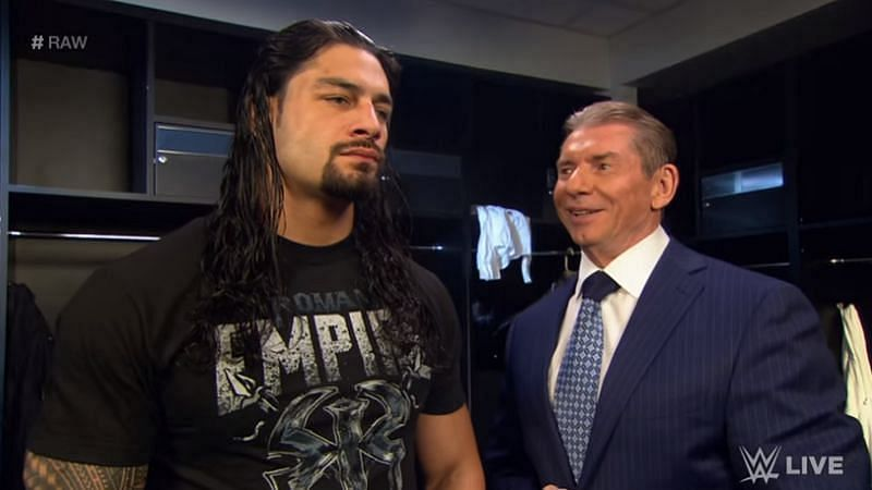 Roman Reigns with Vince McMahon